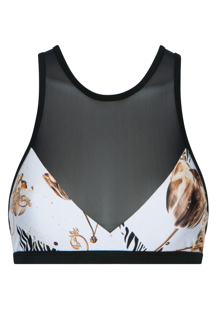 We Are Handsome Active High Neck Crop - Basque - Move Your Body