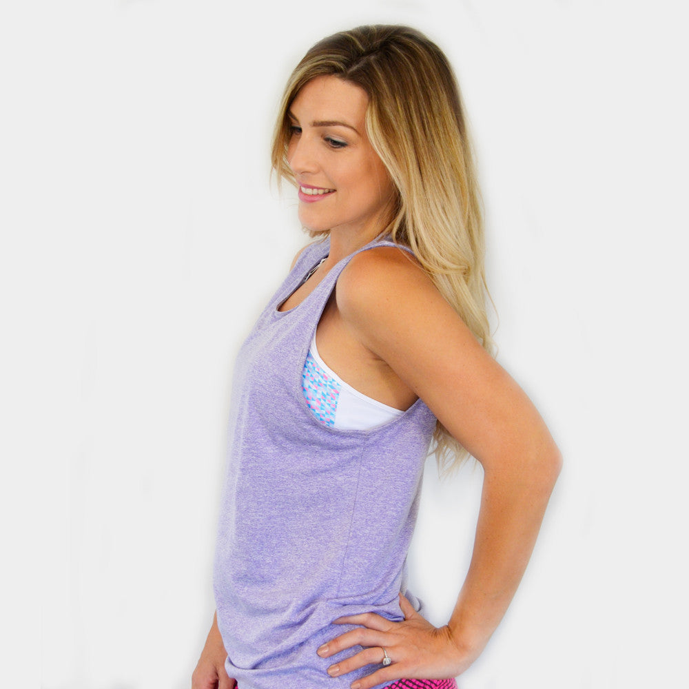 Cadenshae Free Active Tank Lilac - Move Your Body