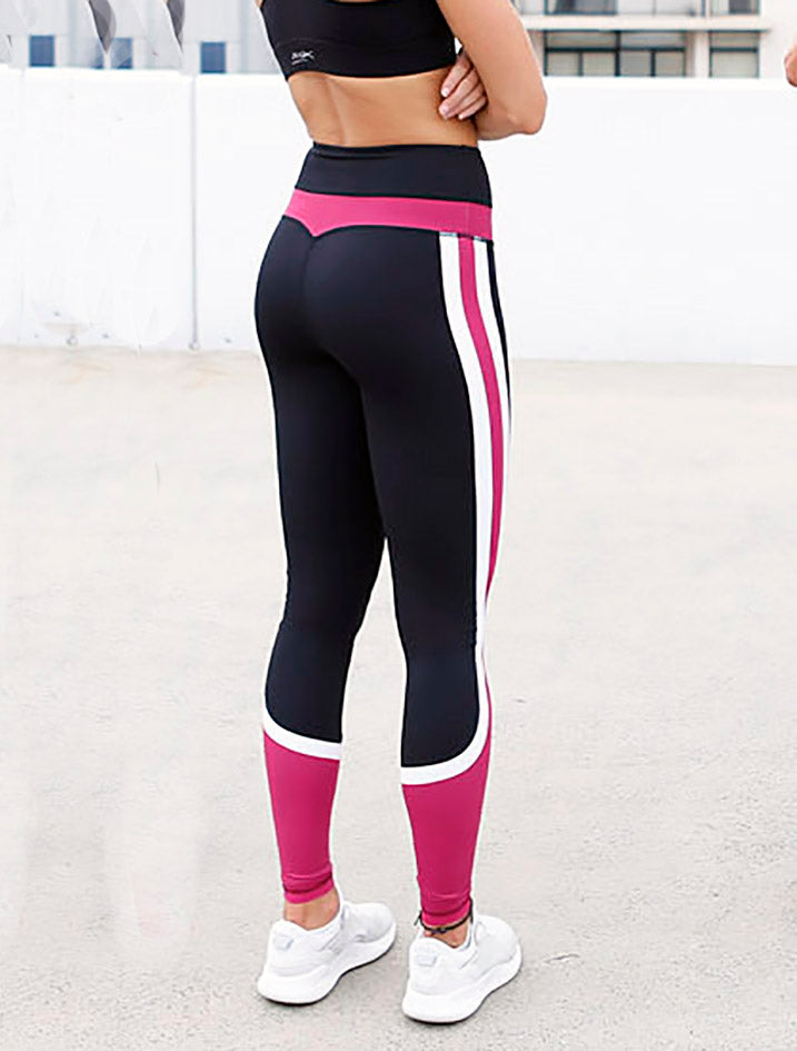 DS FLEX REEVA RACER LEGGINGS colour black and pink back view