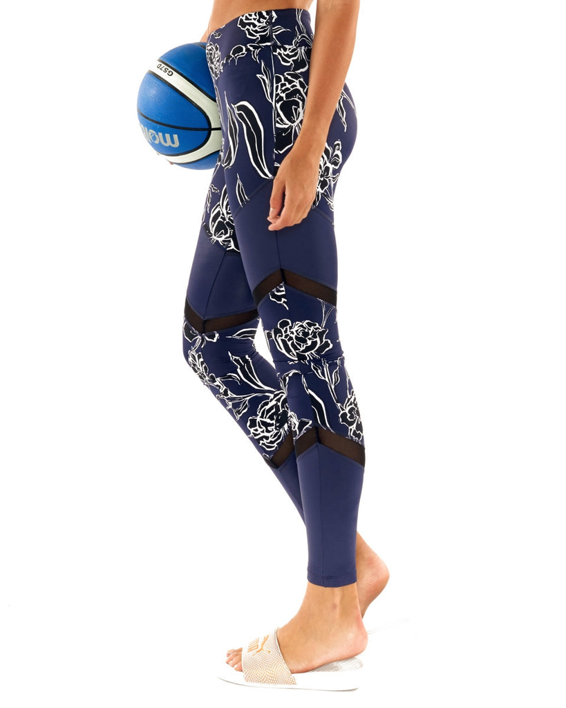 Lúrv Wild Flower Splice Legging - Navy