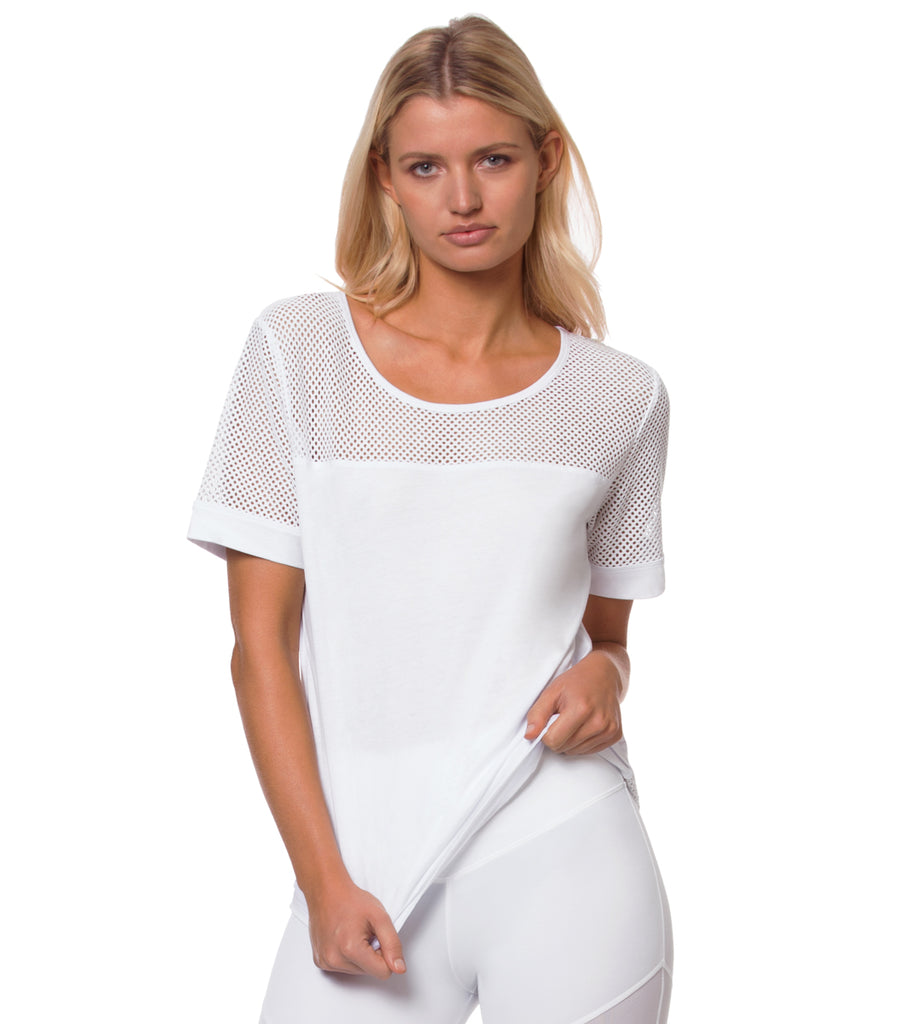 L'urv WHITE ONE BODY TEE