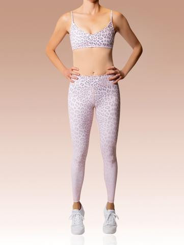 Vie Active Rockell 7/8 Leggings - Blush Leopard