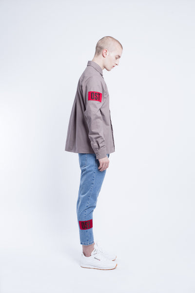 OST konzept Fall Winter 2016-17 worker shirt with patch look1. Eastern european progressive trash fashion.