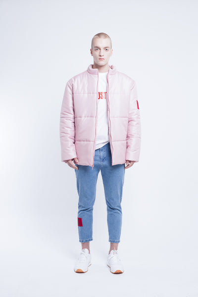 OST konzept Fall Winter 2016-17 light pink puffer jacket look1. Eastern european progressive trash fashion.