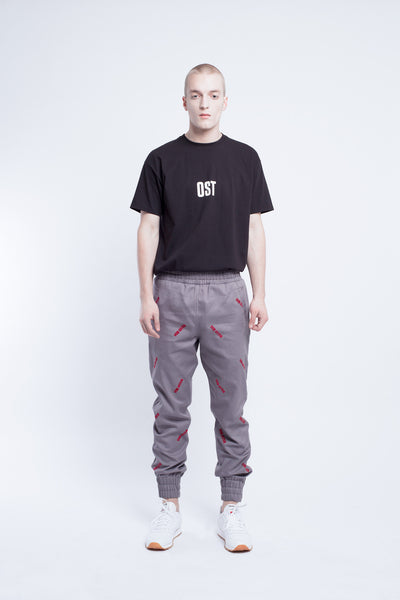 OST konzept Fall Winter 2016-17 VON OSTEN embroidered jogger pants look1. Eastern european progressive trash fashion.