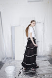 OST konzept Spring Summer 2017 womens black frill maxi skirt look3. Eastern european progressive trash fashion. Gypsy skirt.