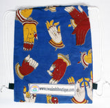 Kalamkari cotton Multipurpose Drawstring Backbag - 11007A, Accessories - Swadeshi Boutique
