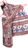 * Mega Sale  *Kalamkari Crepe Silk Saree pattern with Flowers all over (21175A)