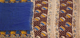 * Mega Sale  * Kalamkari dyed saree with a beautiful border and a Pallu [Blue] - cotton(23061E)