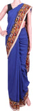 * No GST Sale  * Kalamkari dyed saree with Peacock in pallu [Blue] - cotton(23069B)