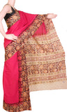 * Mega Sale Rs.200 off *  Kalamkari dyed saree with Patly pallu with a beautiful design [Pink] - cotton(23117A)