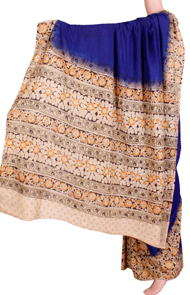 Kalamkari cotton saree with Patly pallu naturally dyed (23119B) *Sale 50% Off*, Sarees - Swadeshi Boutique