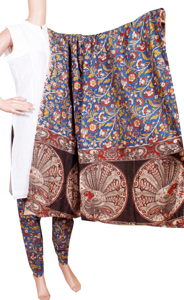 Kalamkari Cotton pattern salwar material (Beautiful Flourals) (24087A)  (2 piece set)