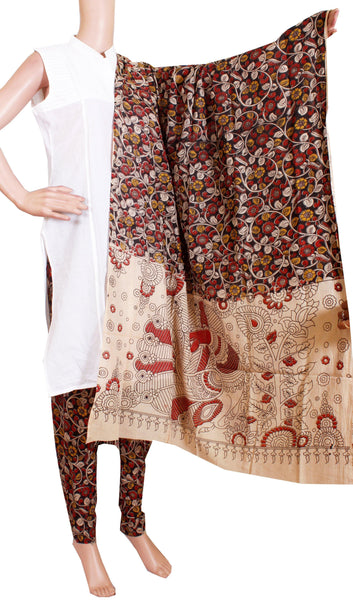 Kalamkari Cotton pattern Chudi material (Beautiful Flourals) (24088A)  (2 piece set) - Swadeshi Boutique