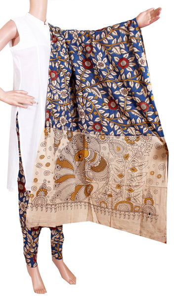 Kalamkari Cotton pattern salwar material (Beautiful Flourals) (24089A)  (2 piece set) - Swadeshi Boutique