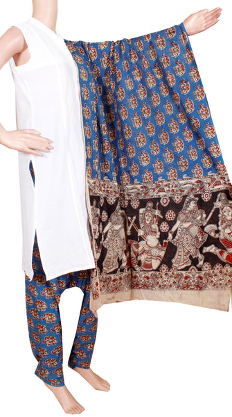 Kalamkari Cotton pattern salwar material (Beautiful Elephant) (24092C)  (2 piece set) - Swadeshi Boutique