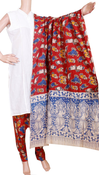Kalamkari Cotton pattern Chudi material (Beautiful Hands Mudhra) (24093B)  (2 piece set)