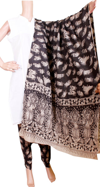 Kalamkari Cotton pattern salwar material (Hands Mudhra) (24093C)  (2 piece set)* Sale 50% Off *, Chudi - Swadeshi Boutique