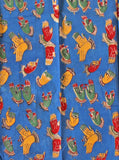 Kalamkari Cotton Blouse material with Hands Mudhra - Blue (25080E) (Premium Cotton)