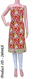 Kalamkari crepe Silk Salwar Tops/Kurti material with pattern - Red (26046A) *SALE 30% OFF*, Tops - Swadeshi Boutique