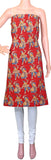 Kalamkari Cotton Salwar Tops/Kurti material with dhandiya dance - Red (26102A), Tops - Swadeshi Boutique