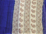 Georgette Laharia pattern saree with a modern pallu & blouse design - Blue (27069A)