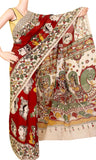 * Popular one * Kalamkari Chennur Silk Saree with beautiful all over pattern (face) and grand pallu - Red(29005E)