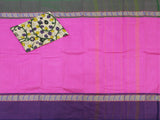 Chettinadu pure cotton saree with a matching kalamkari blouse material (30064A)