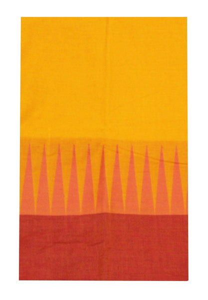Chettinadu pure cotton saree with traditional temple border and attached blouse (30311A)