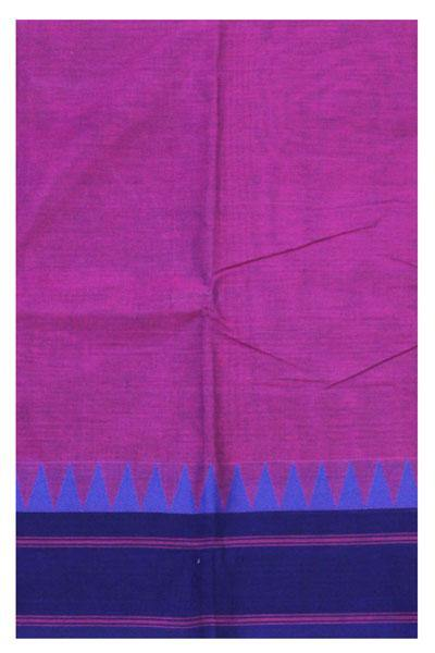 Chettinadu Handloom cotton saree with temple border +Bonus Kalamkari Blouse (30468A)* 40% off sale*, Sarees - Swadeshi Boutique
