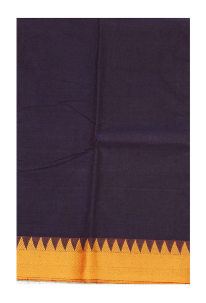Chettinadu Handloom  pure cotton saree with Small traditional temple border and attached blouse (30473A)