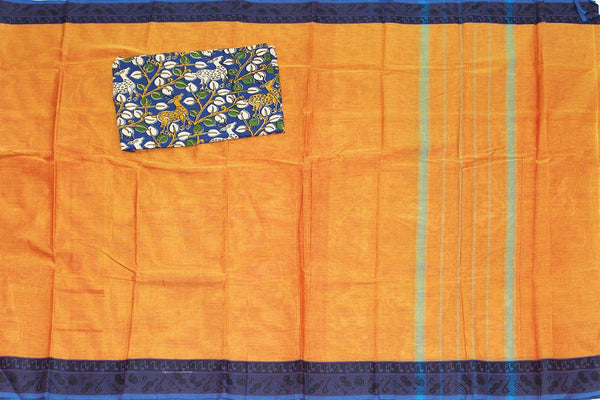 Chettinad cotton handloom saree with musical Instruments and blouse 30560H), Sarees - Swadeshi Boutique