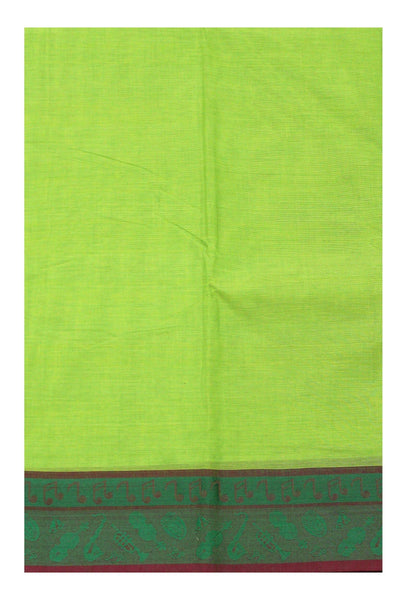 Rs.150 Off * Chettinad pure cotton Handloom saree with Music Instruments in border and attached blouse (30560D)