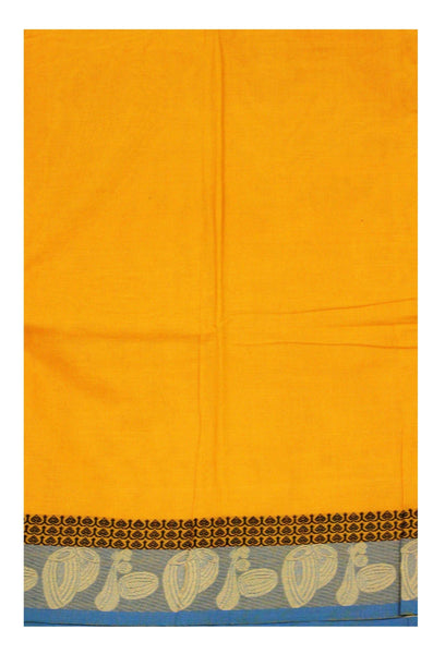 Chettinadu pure cotton Handloom saree with Small Music Instruments in border and attached blouse (30564A)