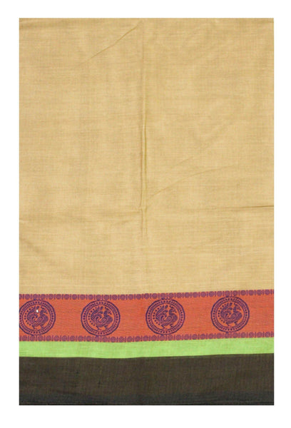 Chettinadu pure cotton saree with Small Peacock in border and attached blouse (30567A)