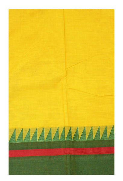 Chettinad pure cotton handloom saree with Small Traditional border and attached blouse (30616A)