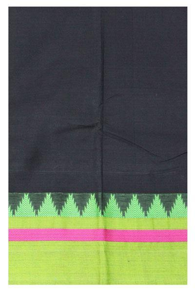 Chettinad pure cotton handloom saree with Small Traditional border and attached blouse (30617A)