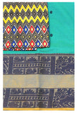 Rs.100 Off Chettinad pure cotton Handloom saree with putta and beautiful matching kalamkari blouse material  (30626A)