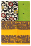 Rs.100 Off Chettinad pure cotton Handloom double border saree with putta and beautiful matching kalamkari blouse material  (30626F)