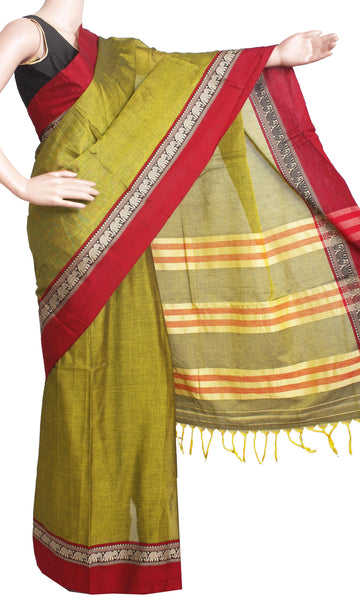 * Rs.200 off * Narayanapet Handloom pure cotton saree with a beautiful matching kalamkari blouse material (30672A)