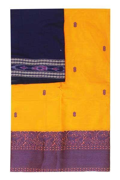 Chettinad handloom cotton saree with buta and an Ikkat blouse (Rs.399 value)  (30780A)