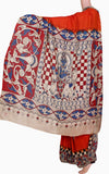 Kalamkari nalgonda silk saree with Krishnar pallu (31012A) *Rs.300 off*, Sarees - Swadeshi Boutique