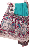 * Summer Sale Rs.200 off *  Kalamkari dyed saree with dancing doll in border [Green] - Premium cotton(32001A)