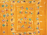 Batik cotton saree with a beautiful matching kalamkari blouse material (34080A)