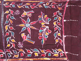 Batik cotton saree with a beautiful matching kalamkari blouse material (34122A)