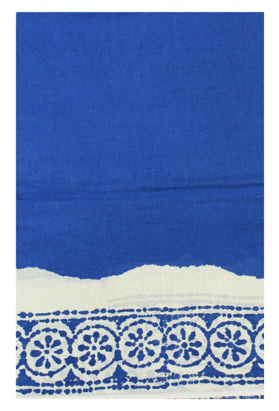 Batik cotton saree with a beautiful  Attached  blouse material (34136A)