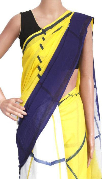 Batik cotton saree with a beautiful Attached blouse material -(34226A), Sarees - Swadeshi Boutique