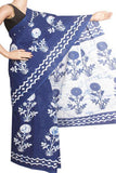 Batik cotton saree with a beautiful Attached blouse material -(34229A)(Rs.100 Off) - Swadeshi Boutique