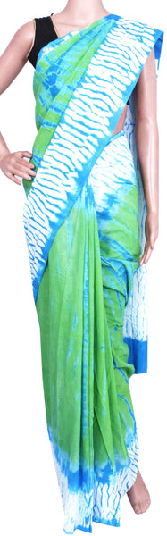 Batik cotton saree with a beautiful Attached blouse material -(34250C)