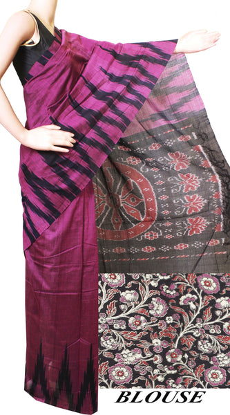 IKAT Handloom Cotton Saree with a beautiful temple border - 37037A
